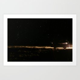WE WENT TO THE SPACE Art Print