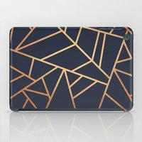 copper iPad Cases featuring Copper and Midnight Navy by Elisabeth Fredriksson