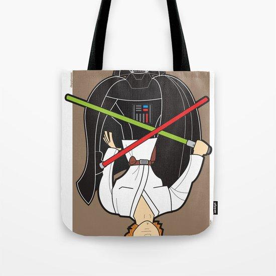 Darth Vader and Luke Tote Bag