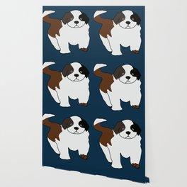 St Bernard puppy Wallpaper