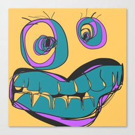 Yellow Crazy Eyes Canvas Print