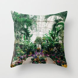 The Main Greenhouse Throw Pillow