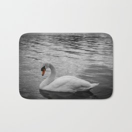 Swan in the Serpentine at Hyde Park Bath Mat
