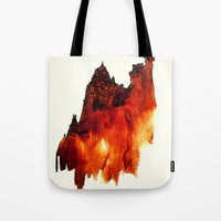 architecture Tote Bags featuring ARCHITECTURE by hawwa a