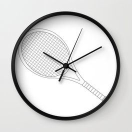 Tennis Racket Outline Wall Clock