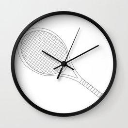 Tennis Racket Outline Wall Clock