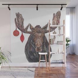 Moose with Baubles Wall Mural