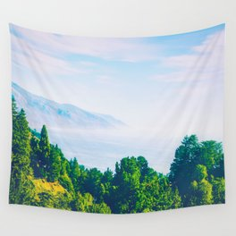 Beautiful ocean view with forest front view at Big Sur, California, USA Wall Tapestry