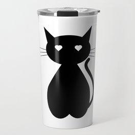 Cute Black Kitty Travel Mug