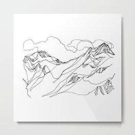 Asulkan Glacier ::: Roger's Pass :: Metal Print