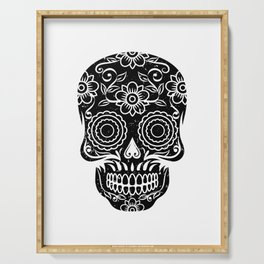 Sugar Skull Calavera graphic Gift for Mexican Decor Lovers Serving Tray