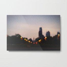 Blurred Lights Metal Print