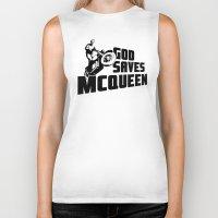 steve mcqueen Biker Tanks featuring God saves McQueen by dutyfreak