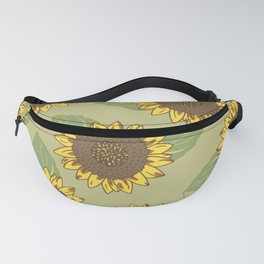 Vintage Sunflowers Fanny Pack