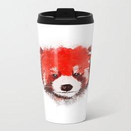 Red Panda (White) Metal Travel Mug