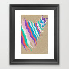 rainbow waves Framed Art Print
