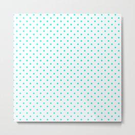Dots (Aqua Cyan/White) Metal Print