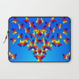 Bright Butterfly Fountain on Blue Laptop Sleeve