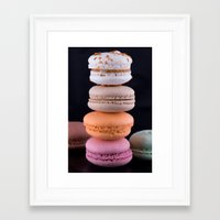 macaroons Framed Art Prints featuring Macaroons  by Michael P. Moriarty
