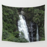 waterfall Wall Tapestries featuring WATERFALL by Caio Trindade