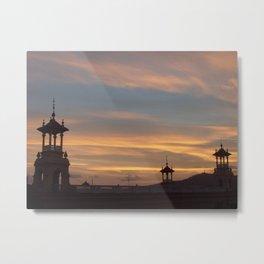 Barcelona Roofs Sunset Metal Print