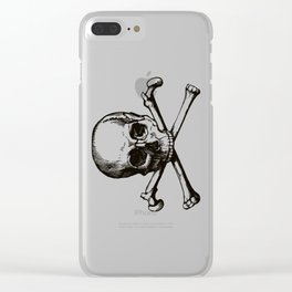 Skull and Crossbones | Jolly Roger Clear iPhone Case