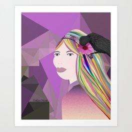 Rainbow cares Art Print
