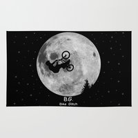 gta Area & Throw Rugs featuring GTA Bike Glitch by JOlorful