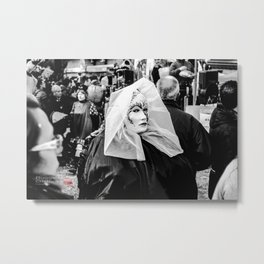 The Lady in the Mask. Metal Print