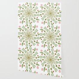 gree floral Wallpaper