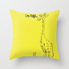 High Giraffe Throw Pillow