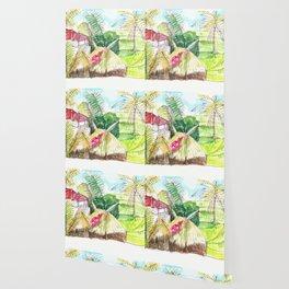 beautiful countryside landscape rice field Wallpaper