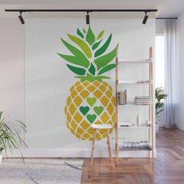 Pineapple Love Wall Mural
