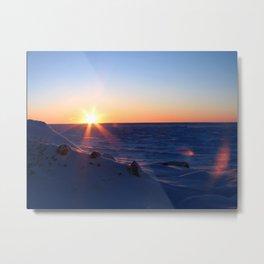Sunrise on the Sound Metal Print