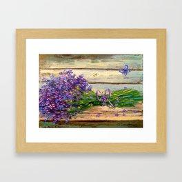 Bouquet of lavender Framed Art Print