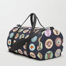 Vector animals in circles Duffle Bag