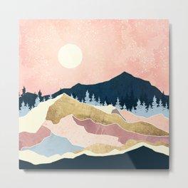 Coral Sunset Metal Print
