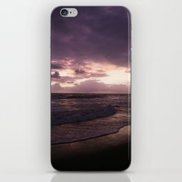 purple beach sunset, puerto vallarta iPhone Skin