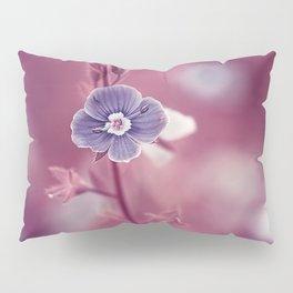 Forget-me-not Violet toned Flower Pillow Sham