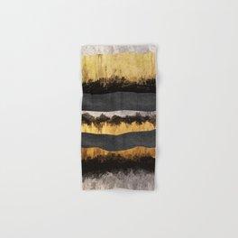 Golden Ocean Waves #1 #abstract #painting #decor #art #society6 Hand & Bath Towel
