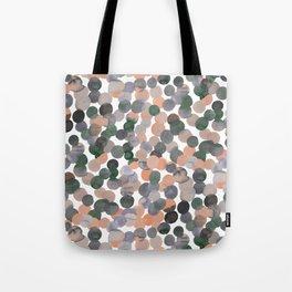 Gracie Spot Peach Grey Tote Bag