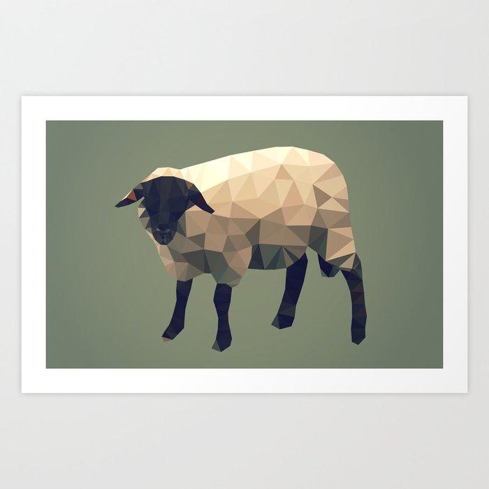 Tringular sheep Art Print