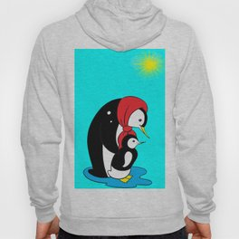 Penguins On A Sunny Day. Hoody