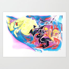 Marbling #19 Art Print