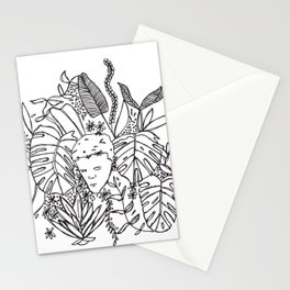 dreamy garden boy Stationery Cards
