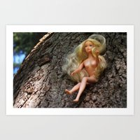 barbie Art Prints featuring barbie by art_by_a_rose