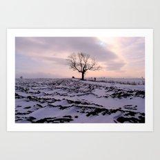 A Winter's Sunset Art Print