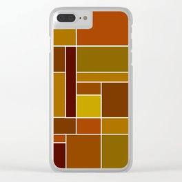 Abstract #488 Clear iPhone Case