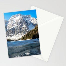 Snow Lake Mountain Landscape Stationery Cards
