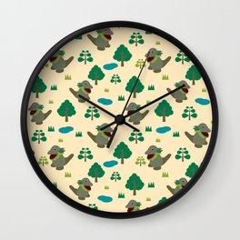 Moccomerian pattern Wall Clock